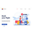 book flight website interface vector image