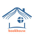 book seller design emblem vector image