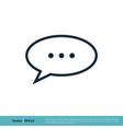 bubble speech chat icon logo template design eps vector image vector image