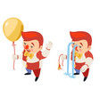 burst balloon isometric circus party fun sad vector image vector image