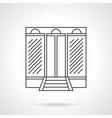 Business center facade flat line icon vector image vector image