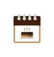 calendar birth day icon vector image vector image
