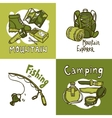 Camping Design Concept vector image vector image