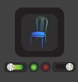 chair icon symbol furniture icon home interior vector image vector image