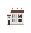 city apartment house of two-storey in flat style vector image