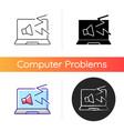 computer makes strange noises icon vector image