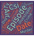 CSI DVD Review text background wordcloud concept vector image vector image