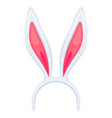cute rabbit ears headband cartoon vector image