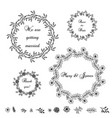decorative elements vector image vector image