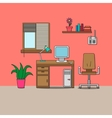 Design of room - cabinet vector image vector image