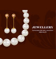 fashion jewellery concept background realistic vector image vector image