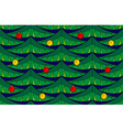 Fir seamless pattern with baubles vector image vector image