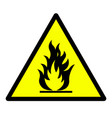 flammable material hazard sign vector image vector image