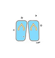 foot wear icon design vector image