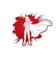 girl super hero action cartoon graphic vector image