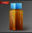 glass medicine bottle on transparent background vector image