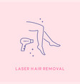hair removal cosmetology procedure cosmetology vector image