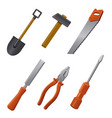 hand tools for work vector image vector image