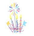 happy birthday candles vector image