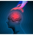 Headache with Flames vector image vector image