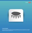 human eye icon - blue sticker button vector image