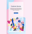 image group people customer service online store vector image vector image
