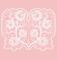 lacy floral bouquet white lace flowers and a grid vector image vector image
