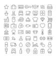 line icon set flat vector image vector image