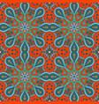 mandala doodle drawing colorful seamless ornament vector image vector image