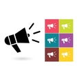 Megaphone icon or megaphone symbol vector image vector image