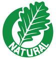 natural symbol vector image vector image