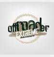 off-road logo image vector image vector image