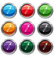 pencil with eraser set 9 collection vector image vector image