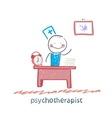 psychotherapist working in his office vector image vector image