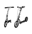 push scooters hand drawn vector image