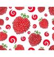 Raspberry swirl seamless vector image