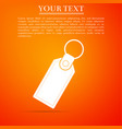 rectangular key chain with ring for key icon vector image vector image