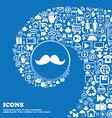 Retro moustache icon sign Nice set of beautiful vector image