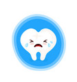 sad unhealthy crying sick tooth vector image vector image
