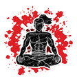 samurai warrior sitting cartoon graphic vector image vector image