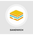 Sandwich icon flat vector image