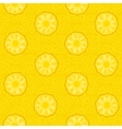 seamless pattern yellow pineapple slices vector image vector image