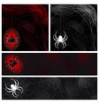 set from autumn background with a spiders web vector image vector image