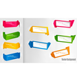 Set of colorful origami paper banners