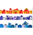 set shopping banners with gift colorful boxes vector image vector image