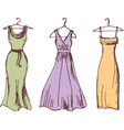 sketches various evening dresses vector image