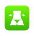 slim body of a woman icon digital green vector image vector image