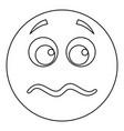 smile icon thin line vector image