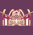 solemn trumpeters playing march cartoon vector image vector image