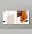 square brochure template design orange corporate